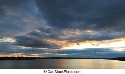 Dramatic sunset timelapse