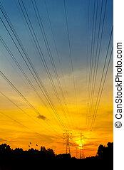dramatic sunset