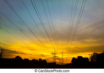 sunset via pylon tower