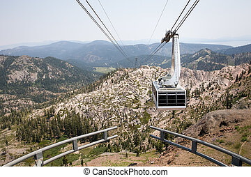 Dramatic View of Hanging Gondola