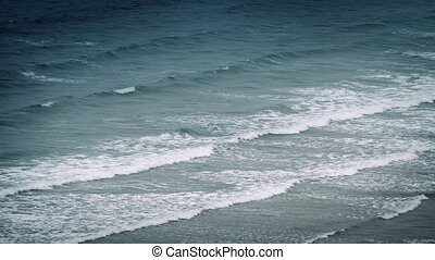 Dramatic Waves Breaking On Shore