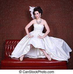 Dramatic Wedding Fashion on a Beautiful Bride