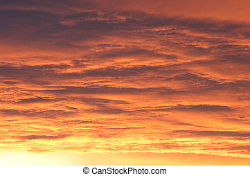 Dramatics sky during the golden sunset