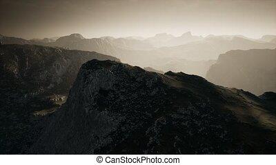dramatique, étapes, sur, mountain., ciel