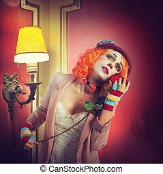 dramatique, clown