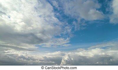 dramatique, contraste, nuageux, sky.