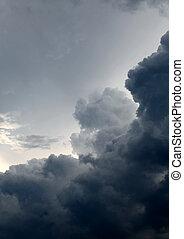 dramatique, nuages, fond