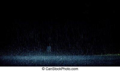 dramatisch, auto, antriebe, durch, regen