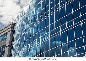 dramatisch, collectief, gebouw, abstract