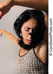 dramatisch, danser, vrouwlijk