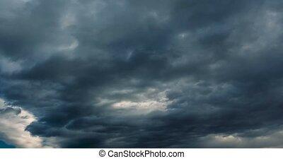 dramatisch, schlechtes wetter, wolkenhimmel, zeit- versehen,...