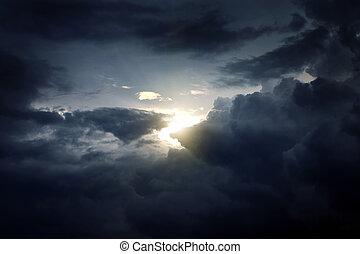 dramatisch, wolkengebilde