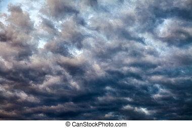 dramatisch, wolkenhimmel, hintergrund