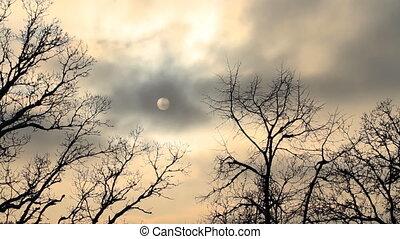dramatischer himmel, timelapse