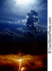 dramatisk himmel, tungsindige