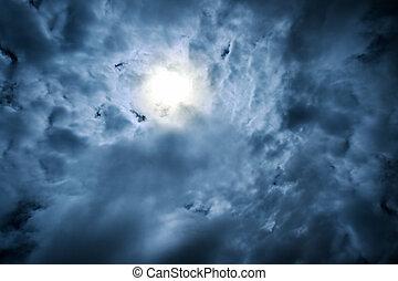 dramatisk, skies