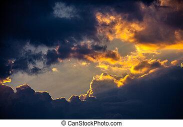 dramatisk,  sky