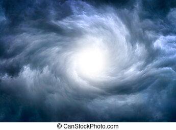 dramatiske, skyer, baggrund