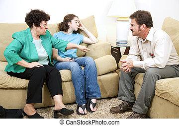 dramma, consiglio, -, famiglia