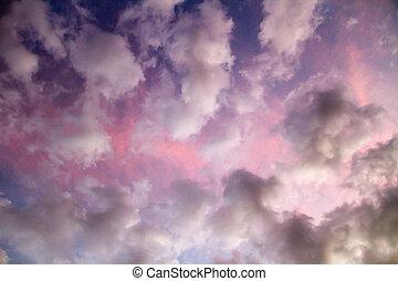 drammatico, colorito, cielo