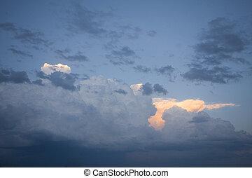 drammatico, nubi