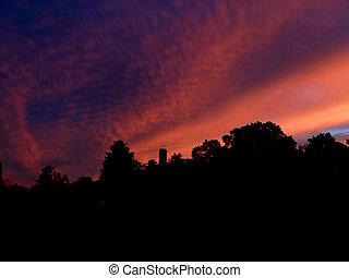 drammatico, nuova inghilterra, tramonto