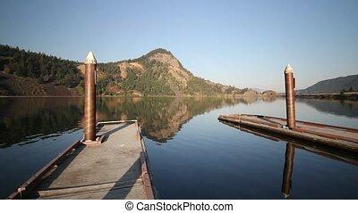 Drano Lake Reflection Washington - Drano Lake in Washington...