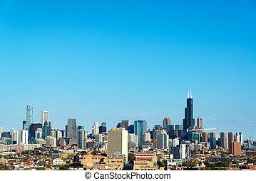 drapacze chmur, w, chicago