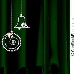 drape with jewel Christmas decoration