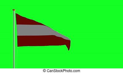 drapeau, écran, vert, autriche
