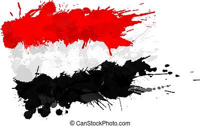 drapeau égypte, fait, eclabousse, coloré