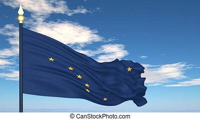 drapeau état, alaska, usa
