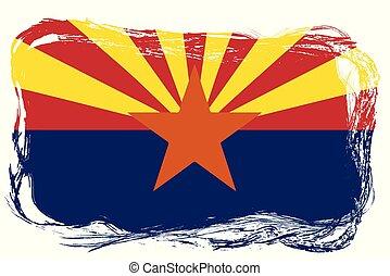 drapeau, état, arizona, grunge
