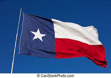 drapeau état, de, texas
