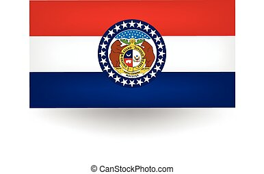 drapeau état, missouri