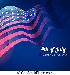 drapeau, 4ème juillet, américain, fond