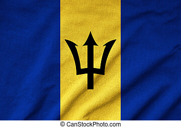 drapeau, a froissé, barbade