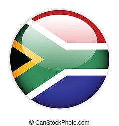 drapeau, afrique, bouton, sud