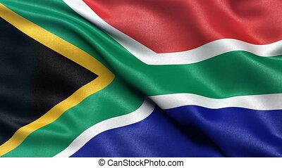 drapeau, afrique, seamless, sud, boucle