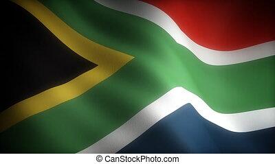 drapeau, afrique, sud
