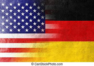 drapeau, allemagne, usa