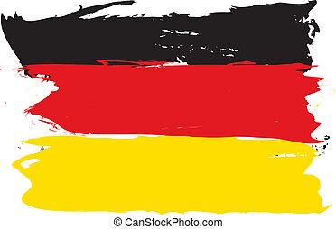 drapeau allemand, grunge