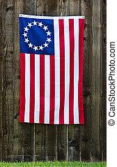 drapeau américain, étoile, 13