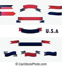 drapeau américain, bannières, colors.