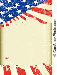 drapeau américain, cadre