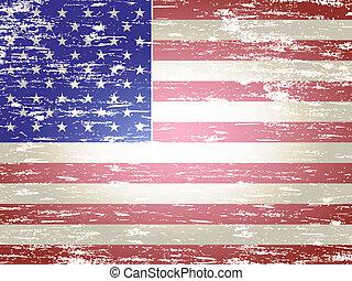 drapeau américain, fané