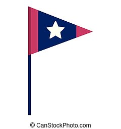 drapeau américain, fond blanc