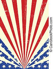 drapeau américain, fond, sale