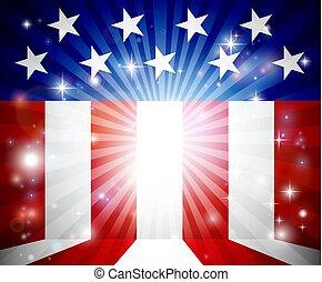 drapeau américain, fond