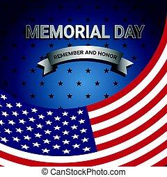 drapeau américain, jour, commémoratif